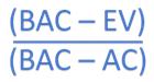 TCPI Formula to achieve original budget