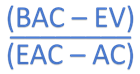 TCPI formula to achieve Estimates at Completion